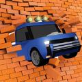 汽车与墙壁